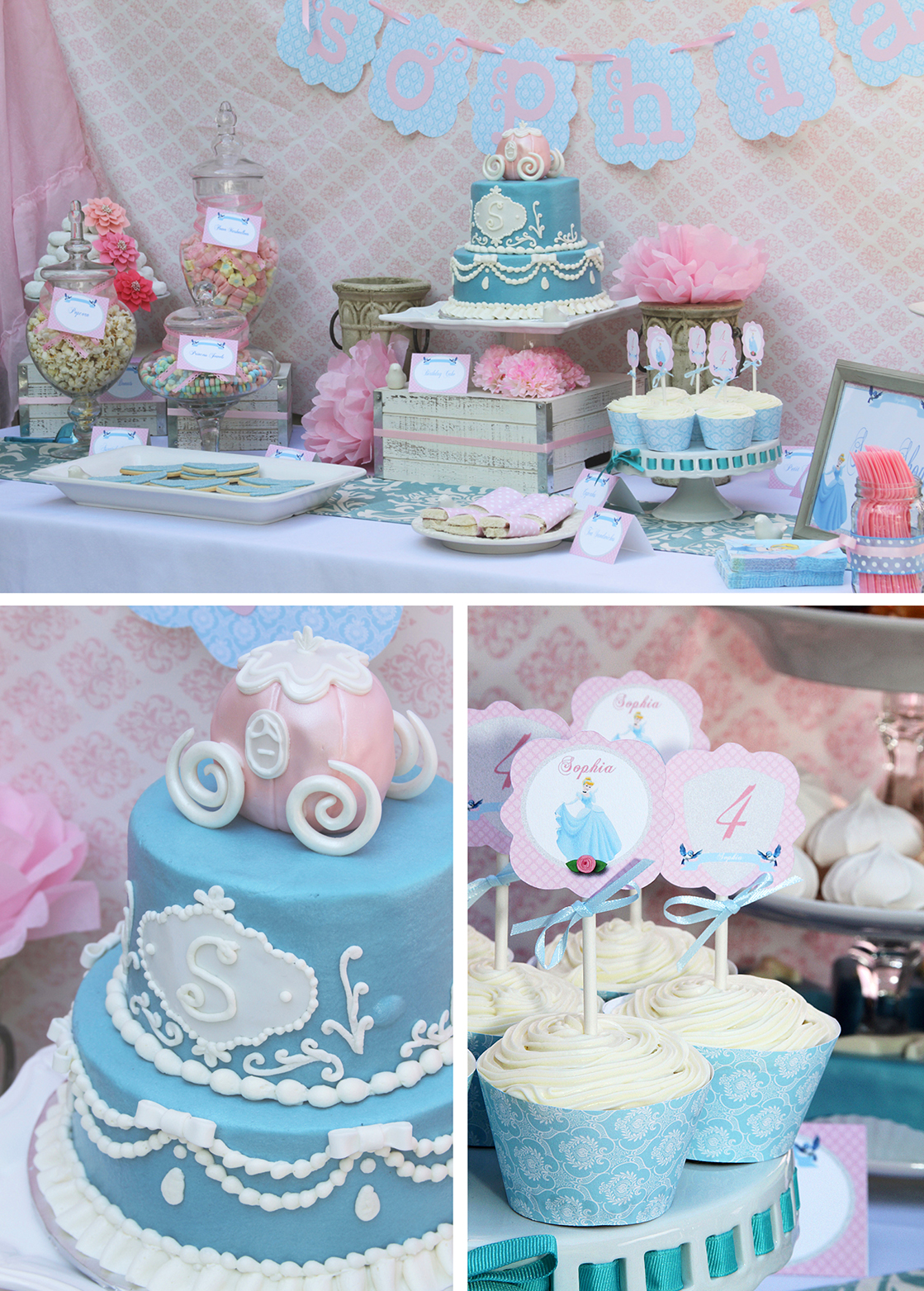 Cinderella Birthday Sweetly Chic Events amp Design