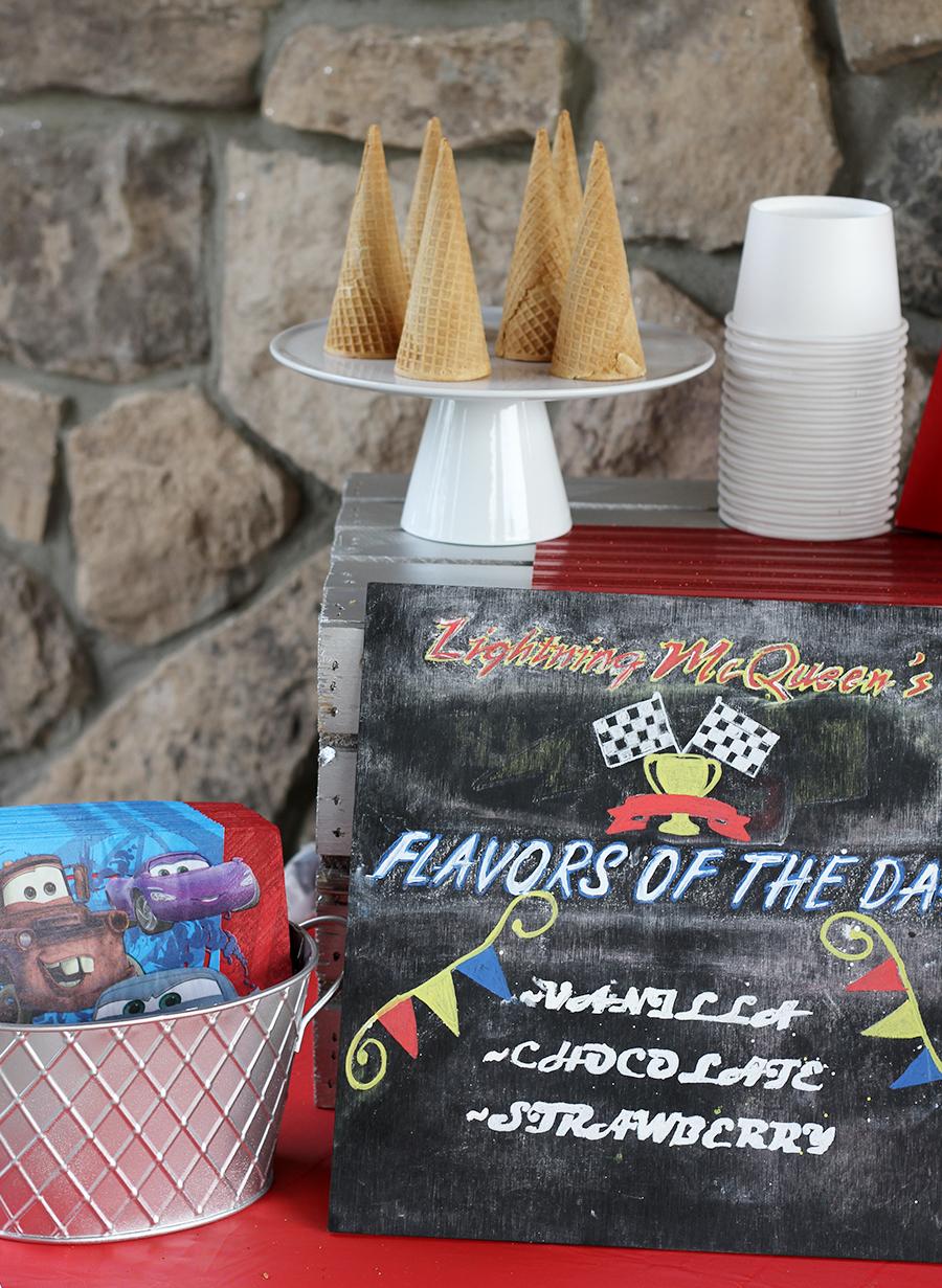 Disney Cars Ice Cream Party