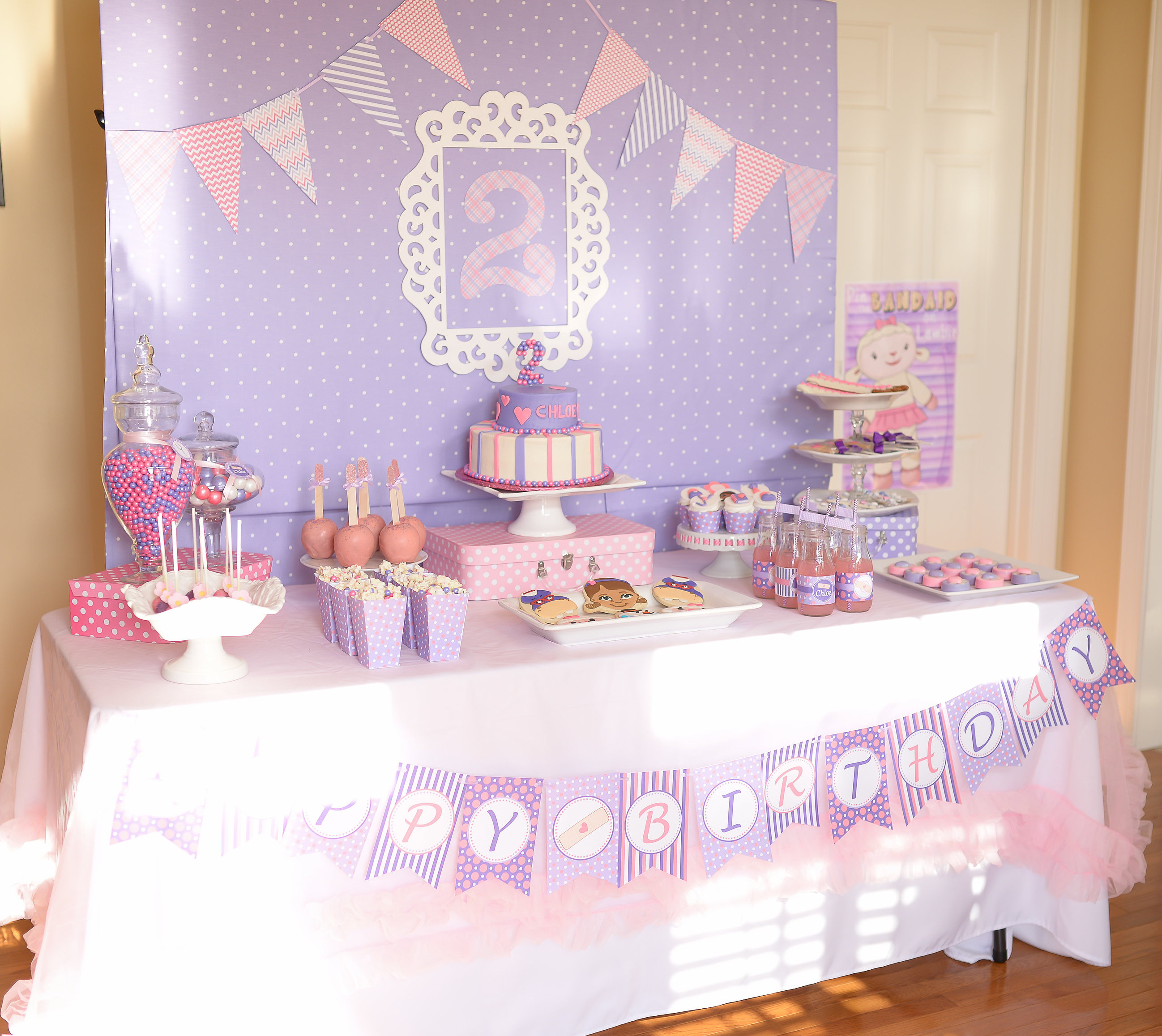 Darling Doc Mcstuffins 2nd Birthday Sweetly Chic Events Design