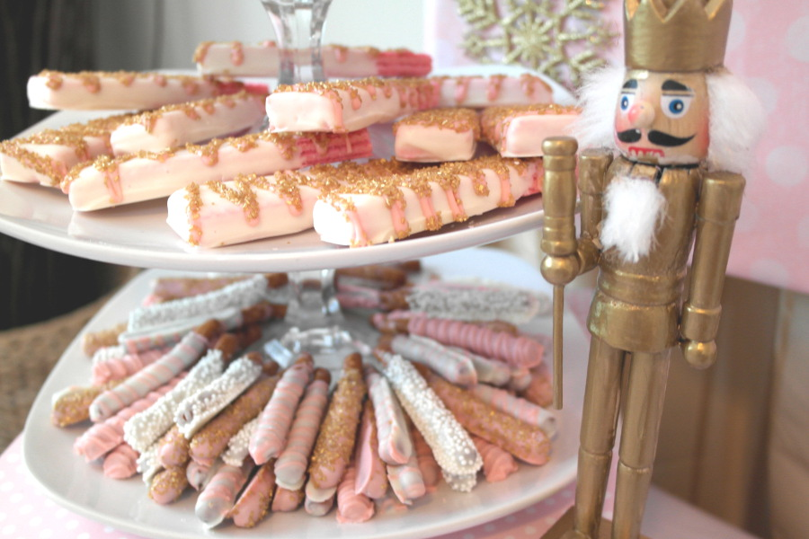 Pink and Gold Nutcracker Tea Party