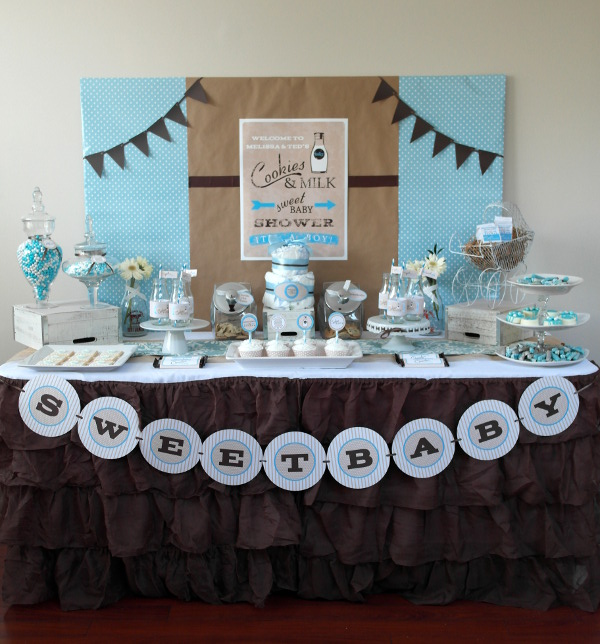 Sweet Milk & Cookies Baby Shower | Sweetly Chic Events & Design