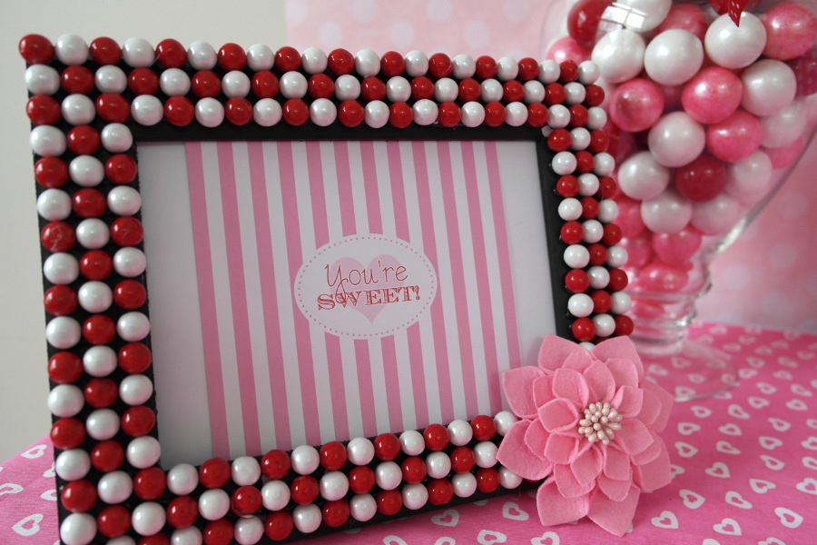 Valentines Day Diy Candy Picture Frame