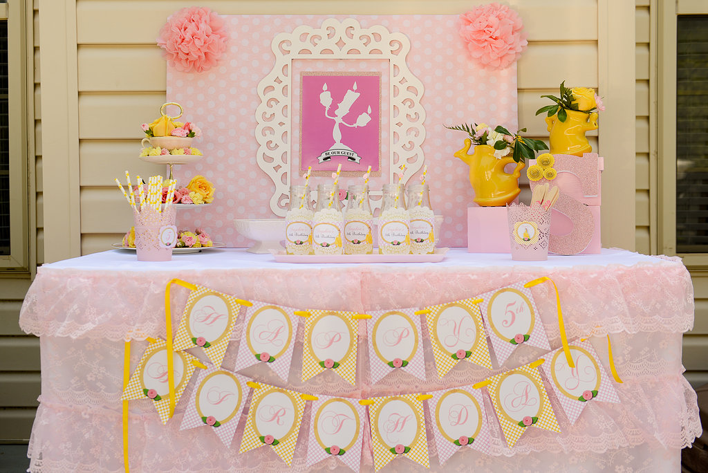 Belle Birthday Party Decorations Stunning Be Our Guest Belle Tea Party  Sweetly Chic Events & Design Inspiration