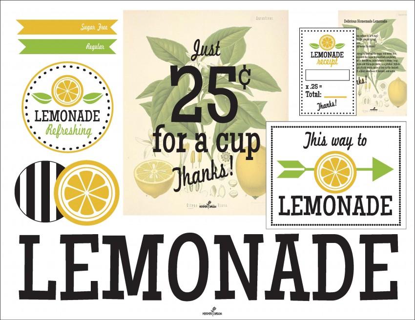 Sweetly Feature: Sweet Lemonade Stand Ideas | Sweetly Chic ...Lemonade Sign Free