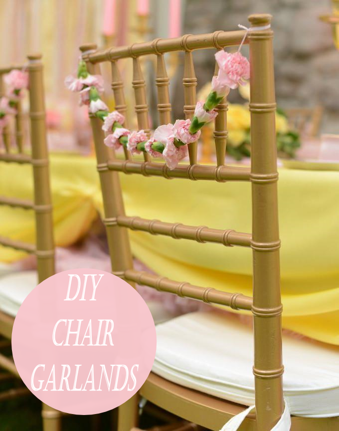 Sweetly Chic Events & Design DIY Floral Chair Garland
