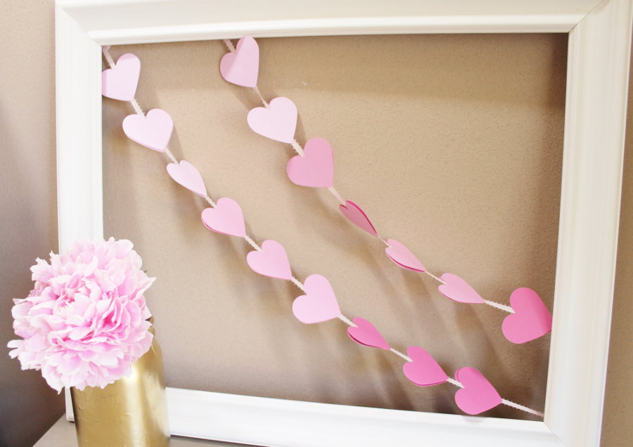 diy ombre heart valentine;s day banner