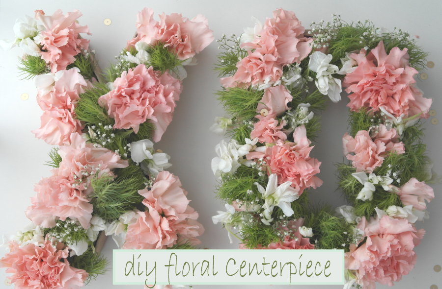 DIY Flower Letter Centerpiece