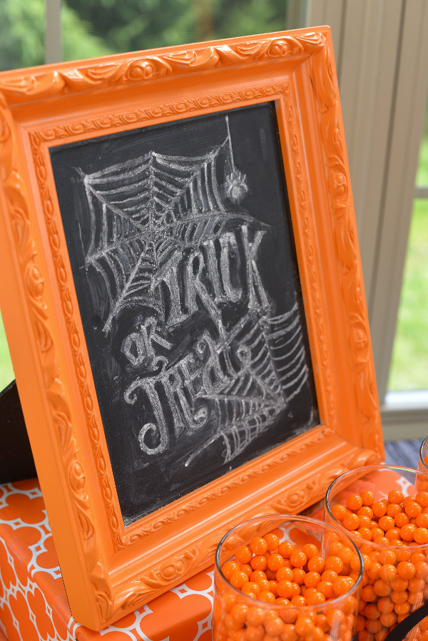 consider adding a fun chalkboard sign to welcome guests to your halloween party we created this framed sign for our halloween party play date last year - Halloween Date This Year