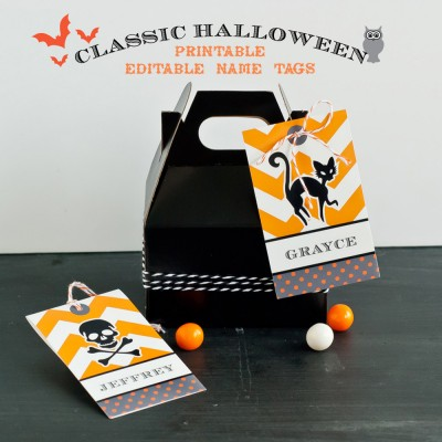 halloween favors tags