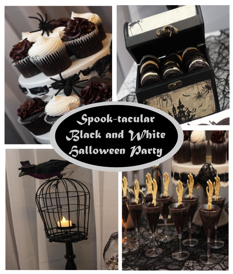 halloween party ideas - Black And White Halloween Party