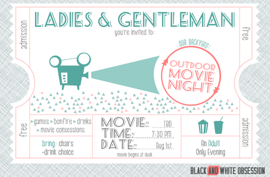 Free Printable Movie Invitation – orderecigsjuice.info
