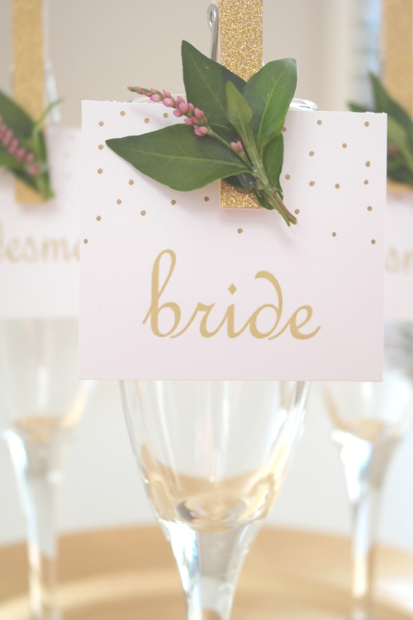 Glitter Place Card Holder