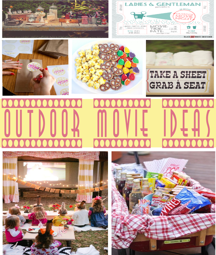 outdoor movie ideas sweetly chic events design