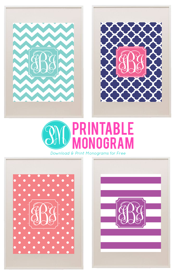 Favorite pins of the week sweetly chic events design for Free printable monogram initials