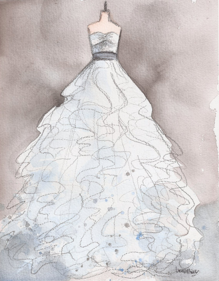 Bridal shower gift roundup sweetly chic events design for Painted on wedding dress