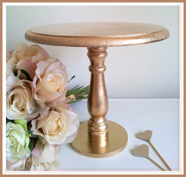 diy gold cake stand sweetly chic events design