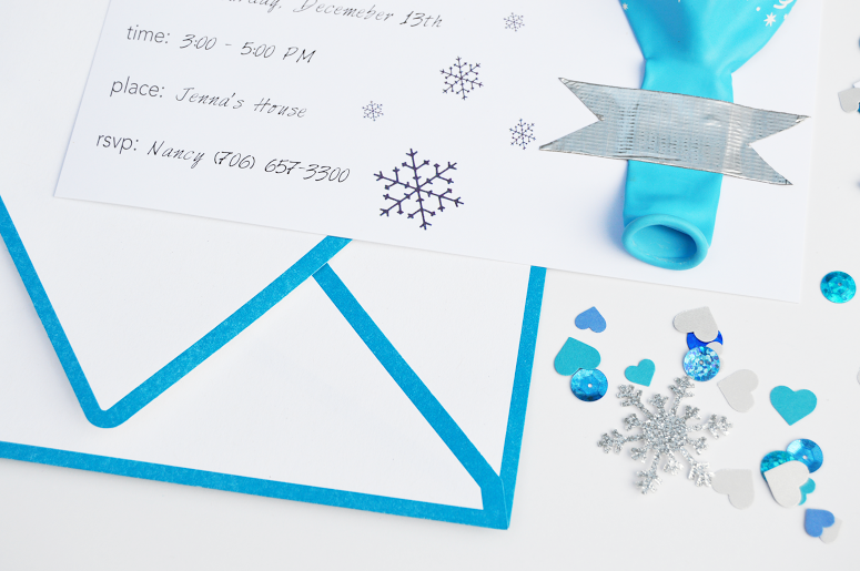 free frozen party invitation