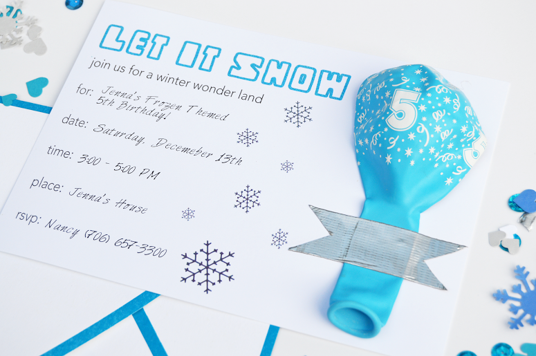Free Frozen Printable Invitation – Party Invitations Frozen