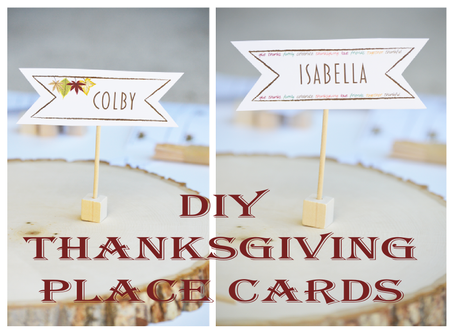 Diy thanksgiving place cards for Diy thanksgiving table place cards