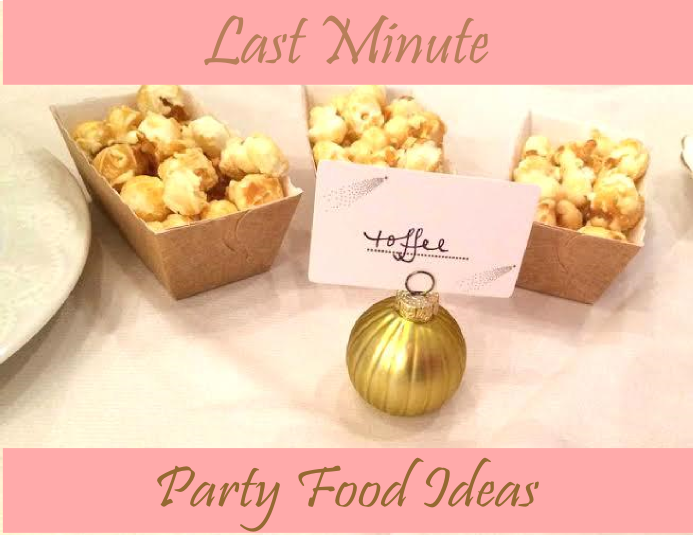 Last minute party planning sweetly chic events design for Last minute party food