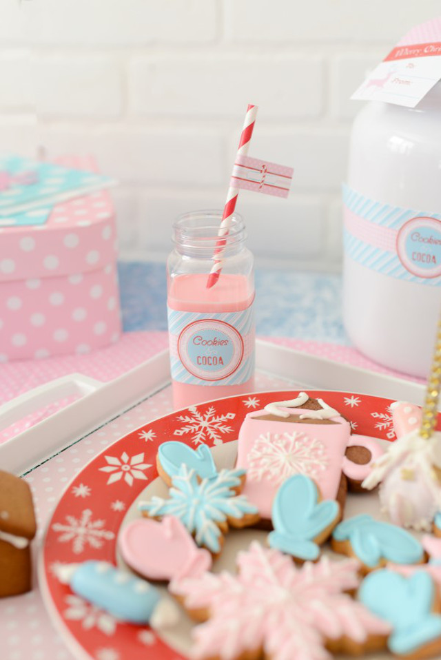 christmas milk bottle and cookies for santa