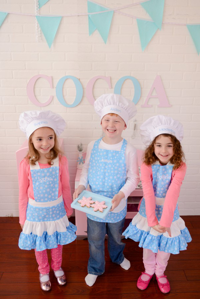 kids christmas aprons