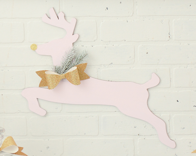 pink and gold reindeer