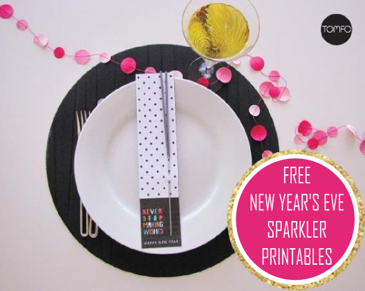 free new years eve sparklers printable