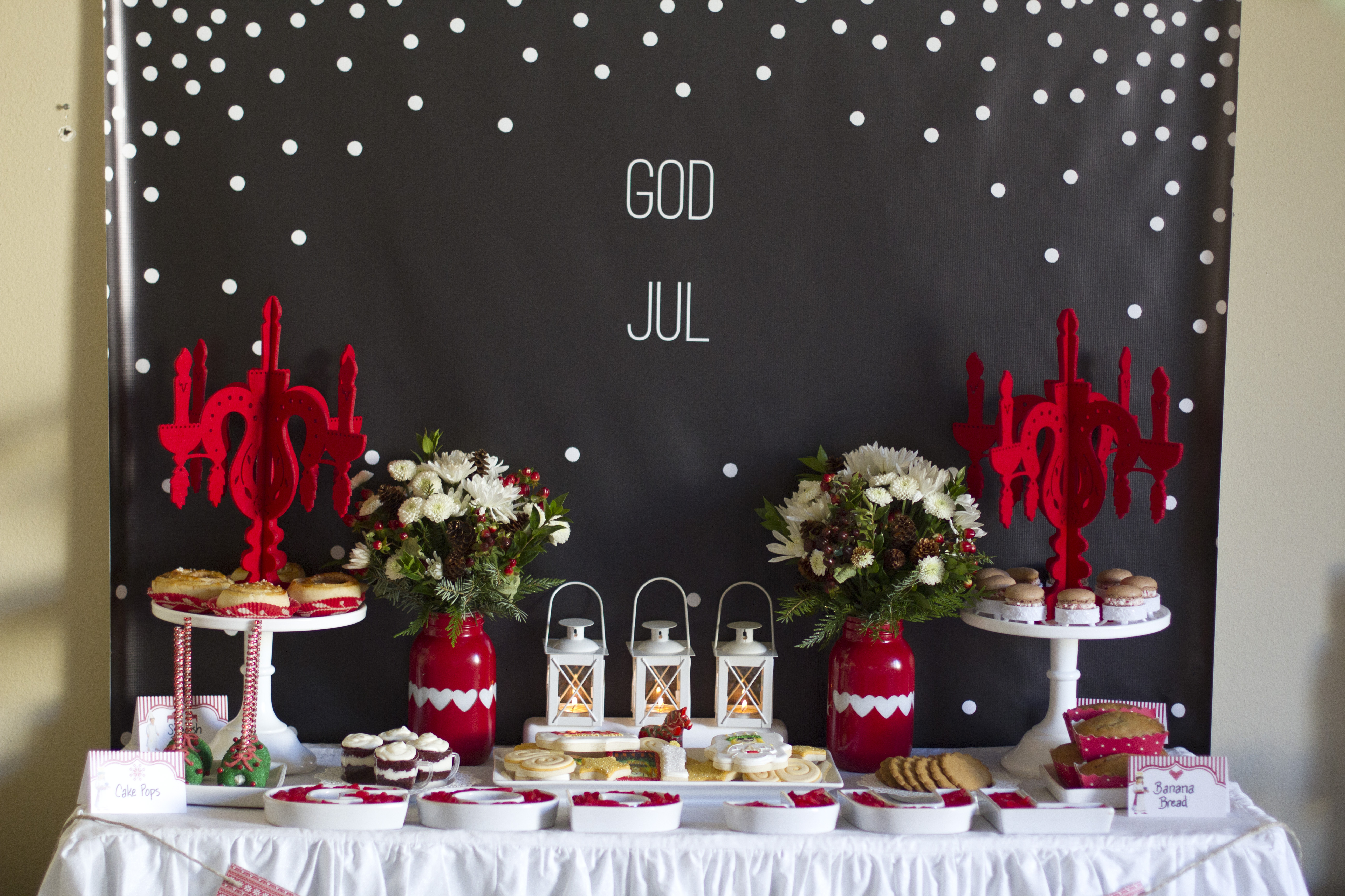 God Jul Backdrop