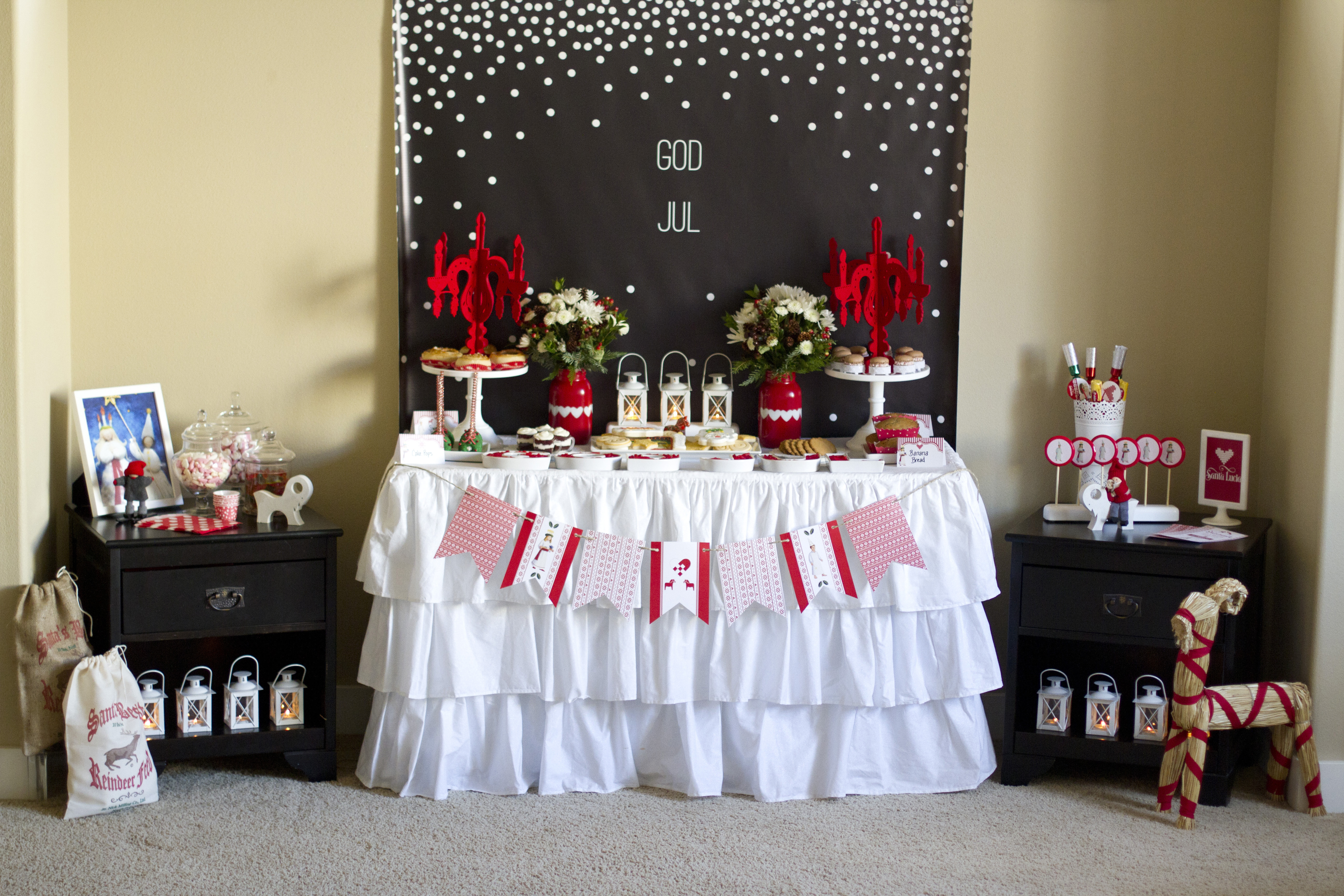 Lucia child of light dessert table