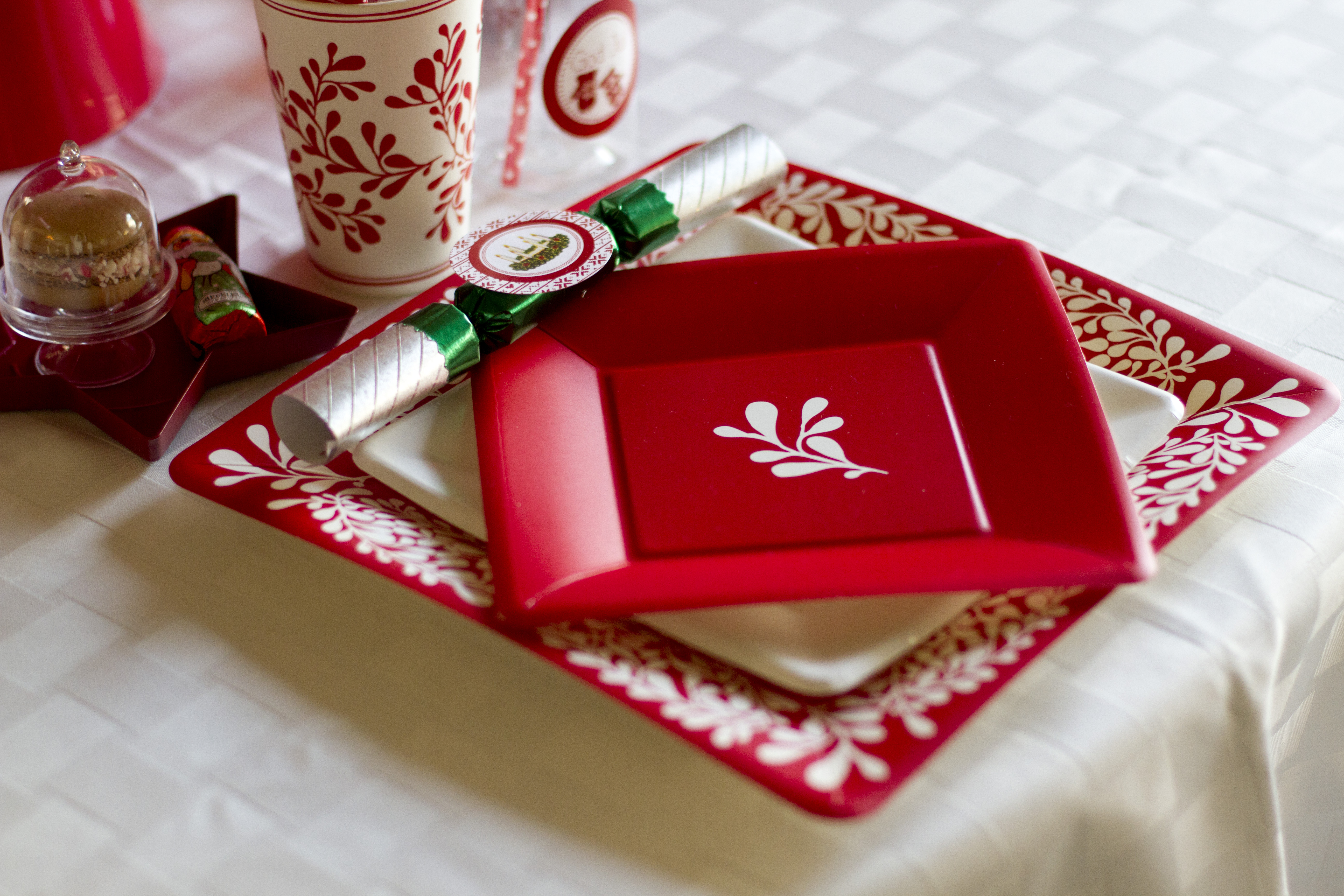 Christmas party place setting