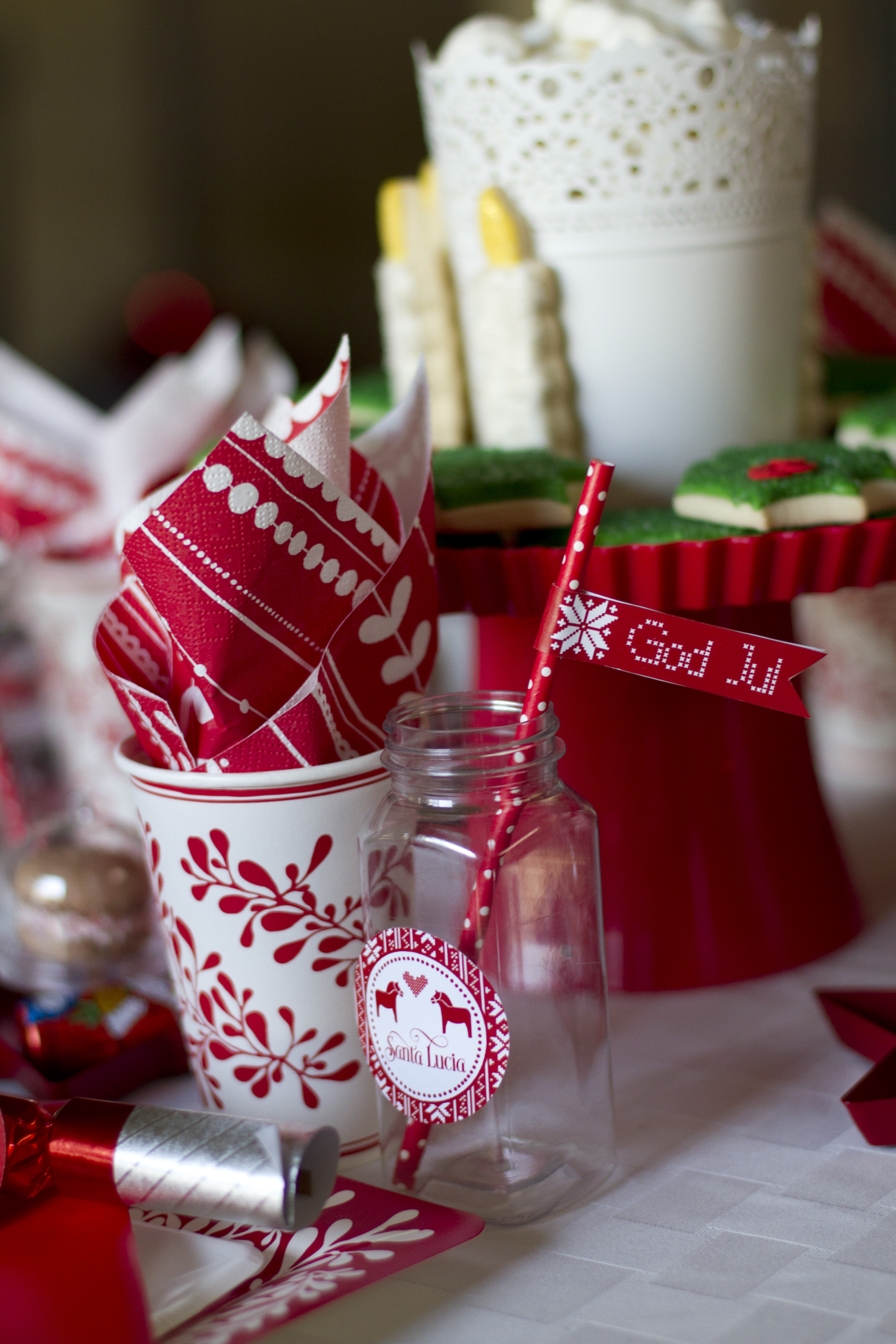 Christmas Party paper cup and napkin