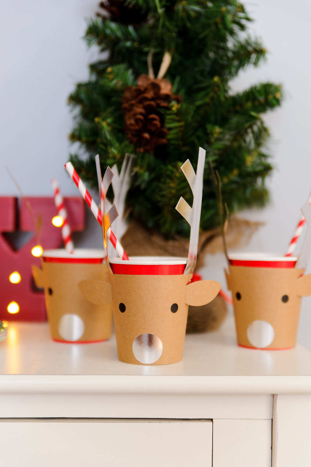Land of Nod Reindeer Cups