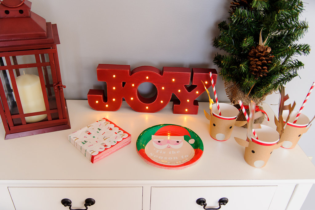 Kand of Nod Christmas plates, napkins and reindeer cups
