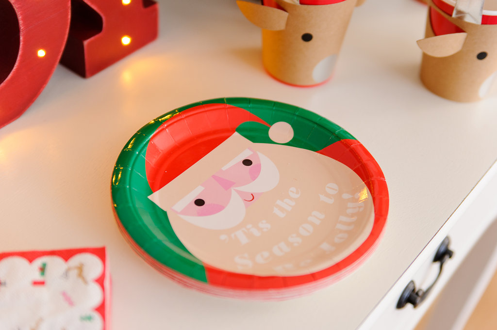 Land of Nod Santa Paper Plate