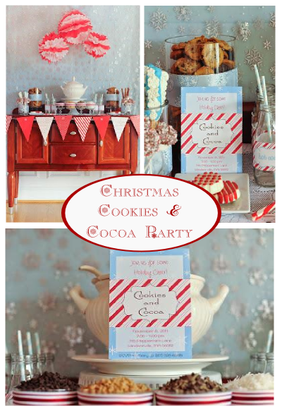 christmas cookies and cocoa party