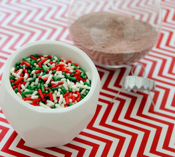 christmas sprinkles for a diy christmas ornament