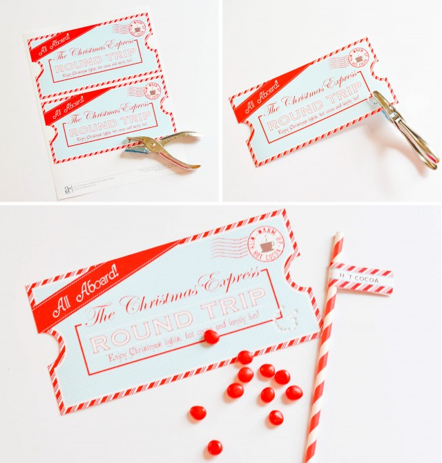 Christmas Party Ticket Template Free: FREE Printable Christmas Express Train Tickets
