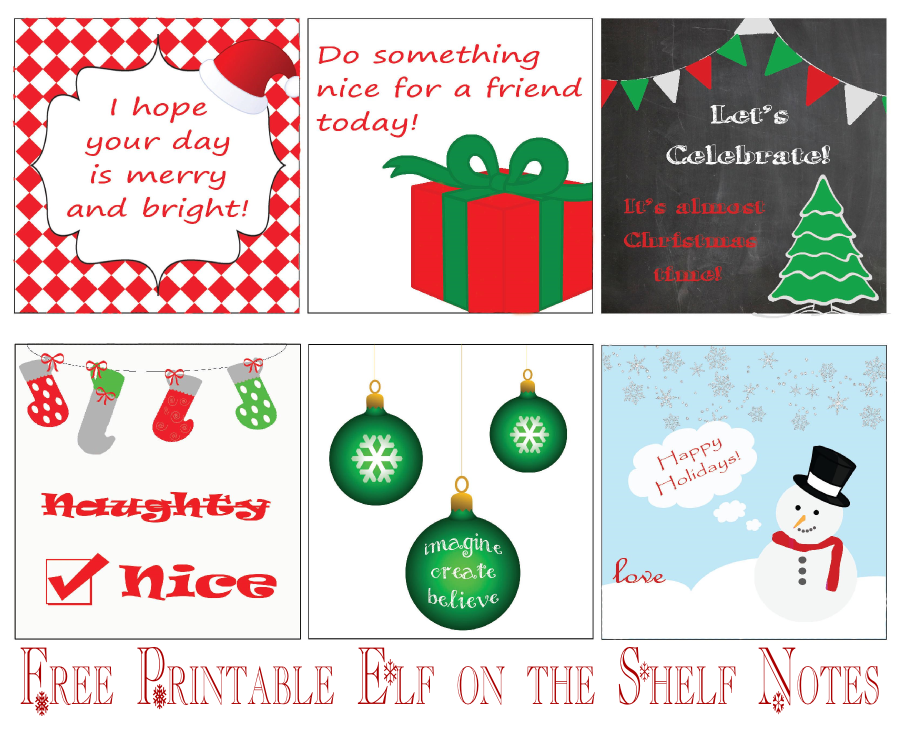 Elf On The Shelf Free Printable Notes | Share The Knownledge