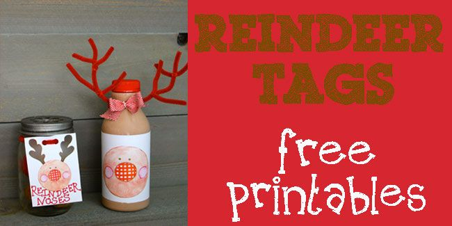 FREE Reindeer Tag Printables and Reindeer Nose Donut Recipe!