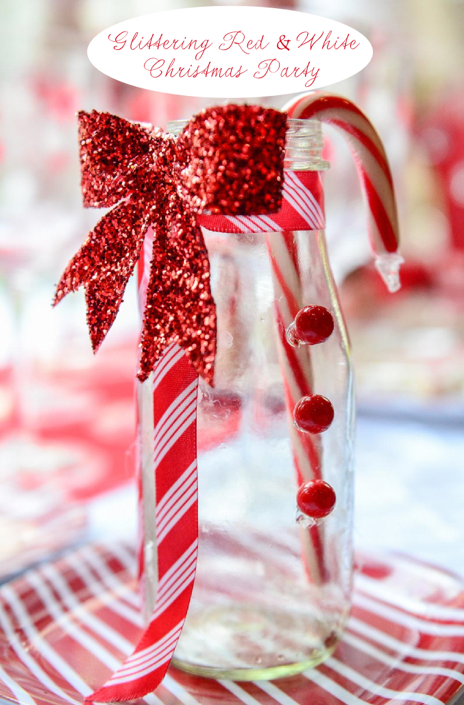 Red & White Glittering Christmas Party