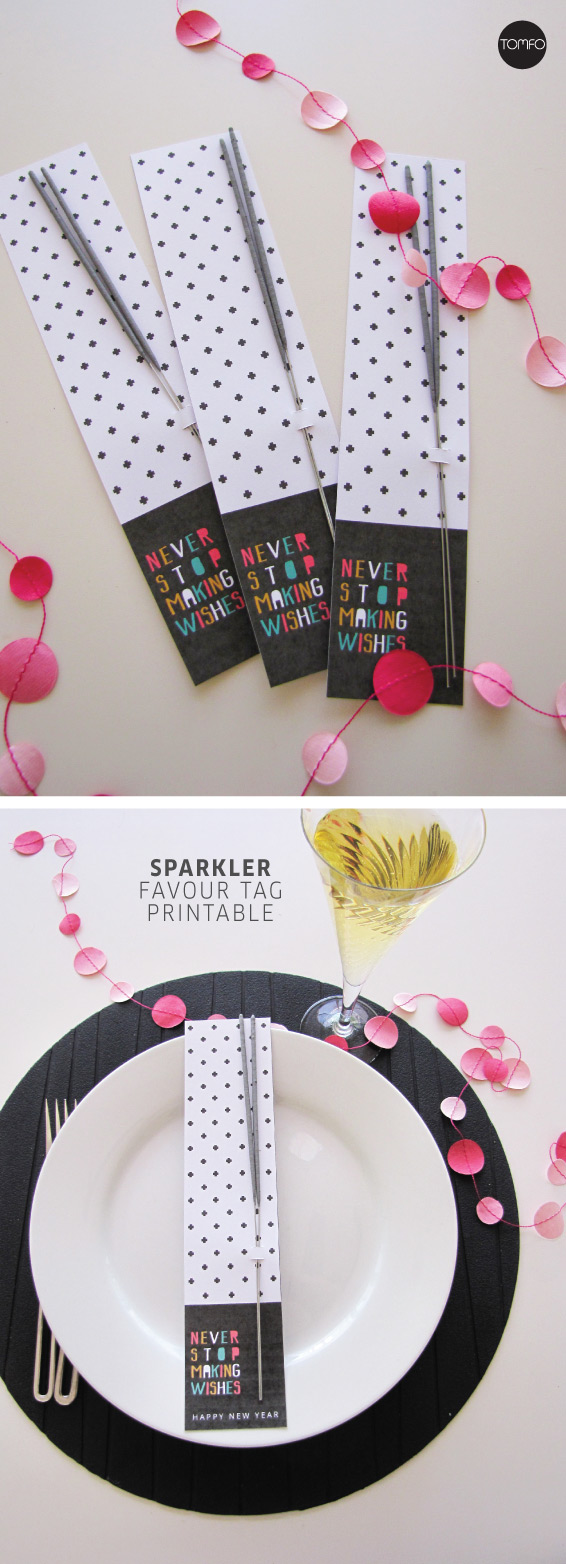free new years eve sparklers printable favor
