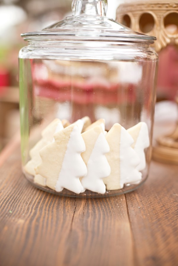 christmas tree cookies at a vintage glam christmas party