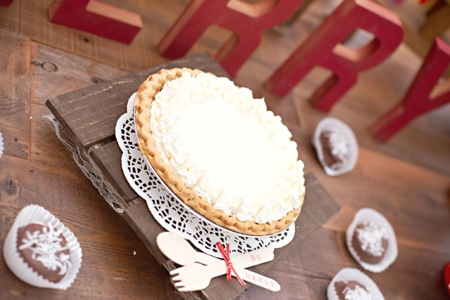 pie at a vintage glam christmas party