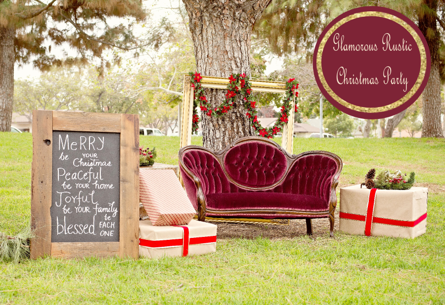 glamorous and rustic christmas party