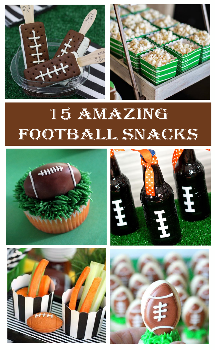 15 amazing football party snacks