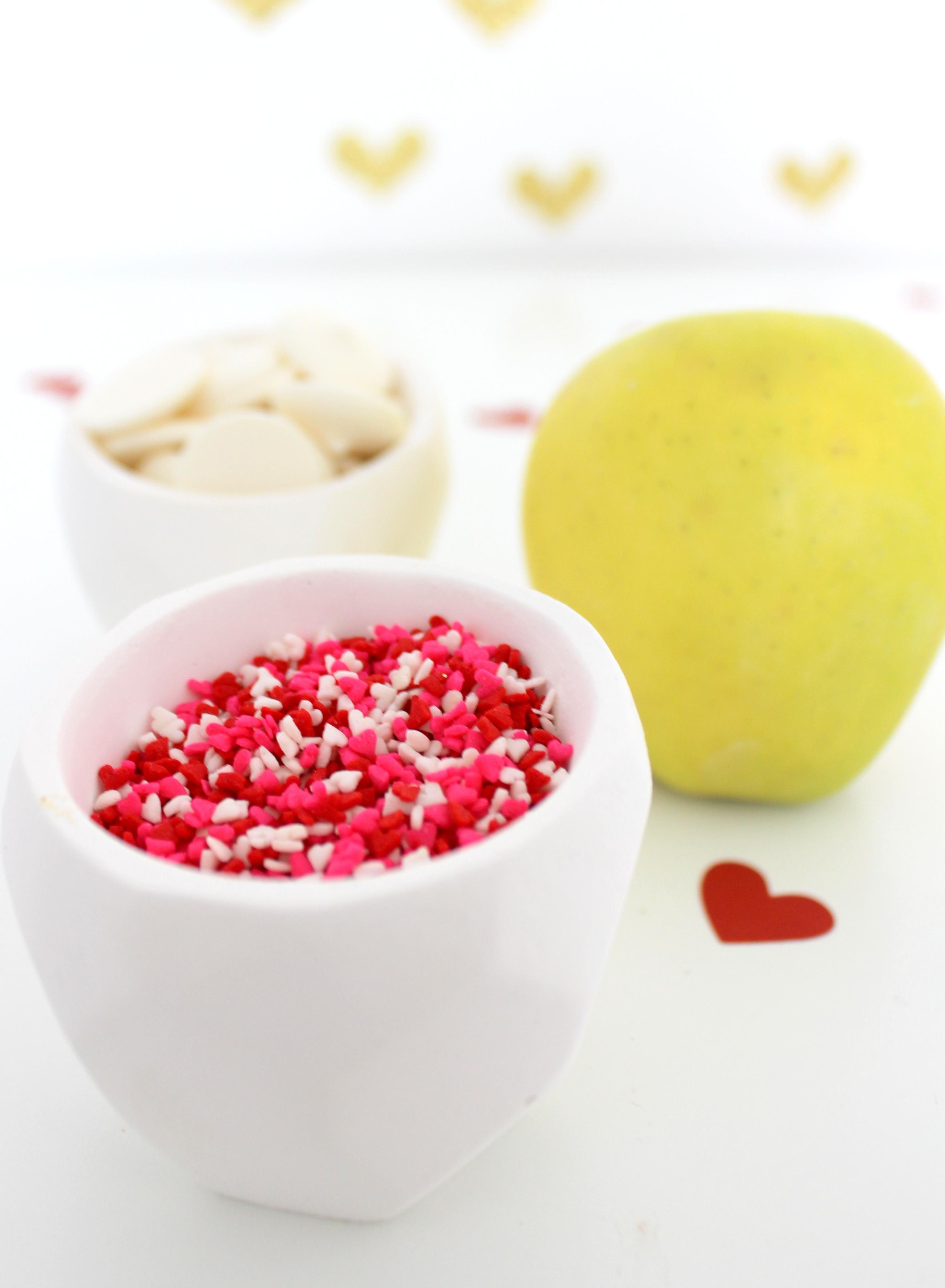 DIY Valentine's Day Apple Supplies