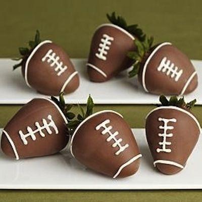 Football Chocolate Covered Strawberries