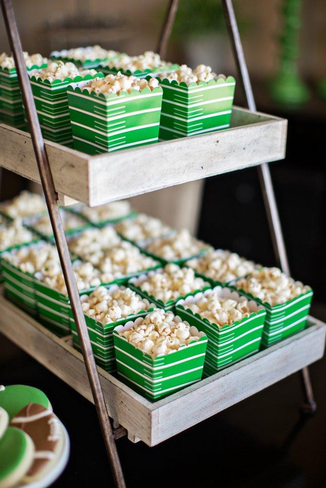 Football Themed Popcorn