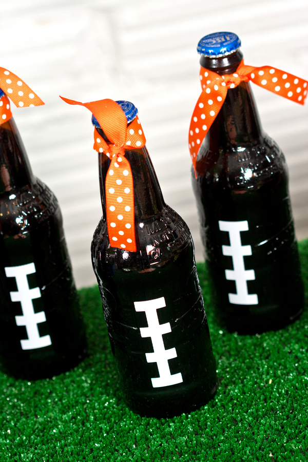 Football themed Drink Decor